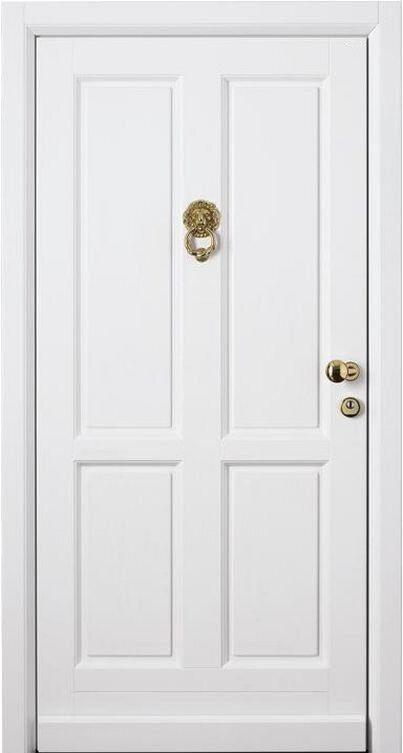 входная стальная дверь с белым мдф